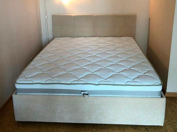 Кровать Life 1 Box Райтон фото ткань Лама Лен