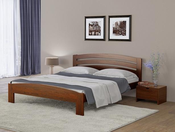 Кровать двуспальная Веста 2 Райтон коричневый в красноту