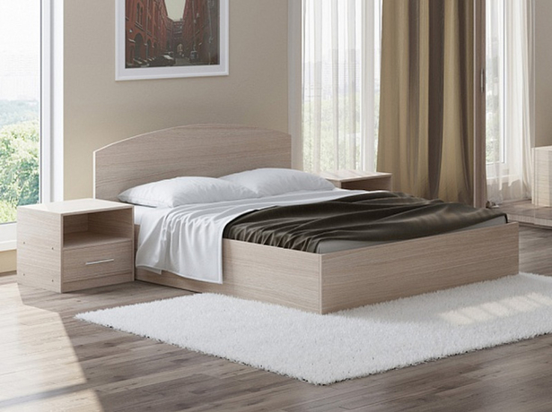 Кровать Этюд с подъемным механизмом дуб шамони