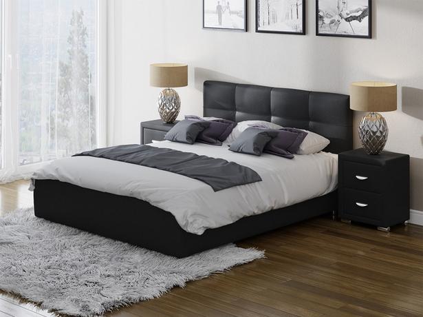 Черная кровать Life 1 Box с подъемным механизмом