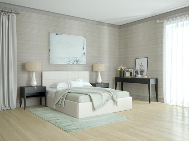Белая кровать двуспальная Alba