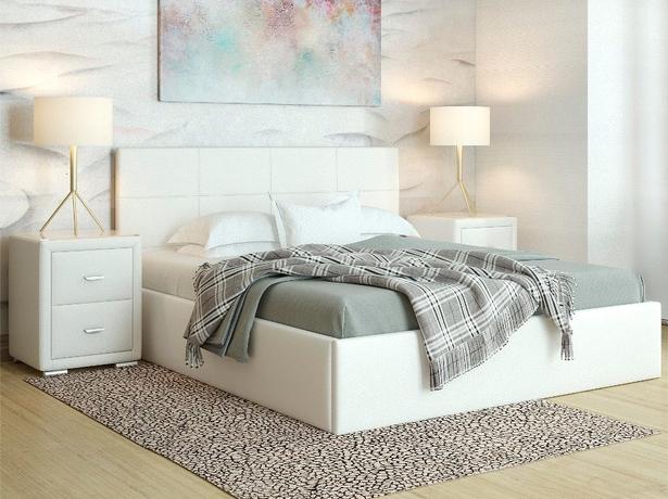 Купить белую кровать Alba