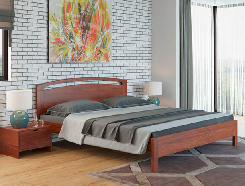 Кровать Веста 1R Тахта сосна коричнево-красный
