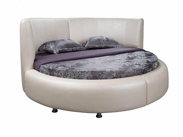 Круглая кровать Luna вид сбоку