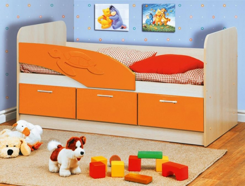 Кровать односпальная Черепаха с ящиками