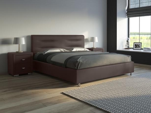 Кожаная кровать венге Nuvola 8