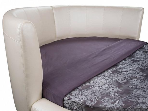 Круглая кровать Luna изголовье сбоку
