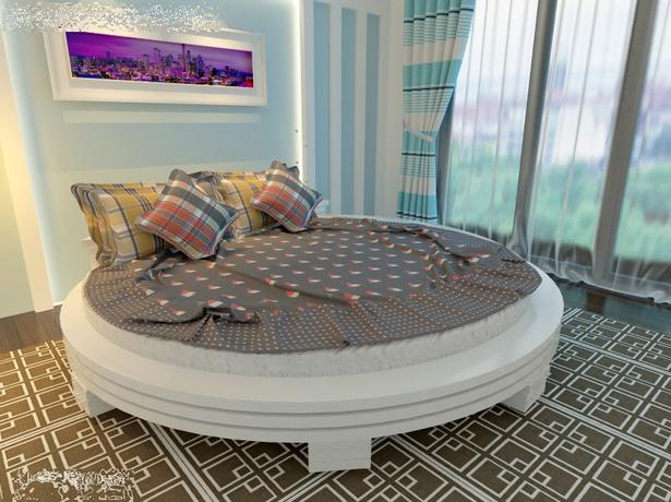 Круглая кровать Арена белый
