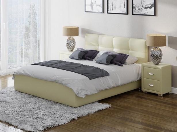 Кровать Life 1 Box с подъемным механизмом кремовая