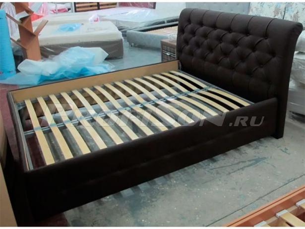 Кровать Life 4  Райтон фото кожа черная