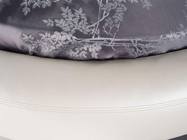 Круглая кровать Luna стежка