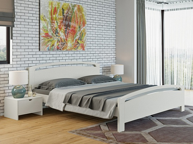 Белая кровать Веста 1 Райтон белый