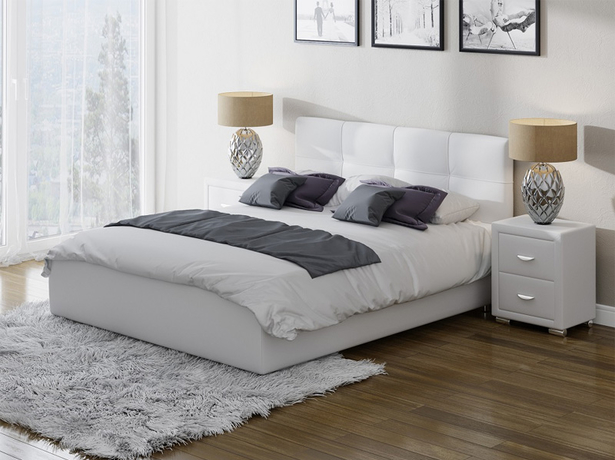 Белая кровать Life 1 Box с подъемным механизмом