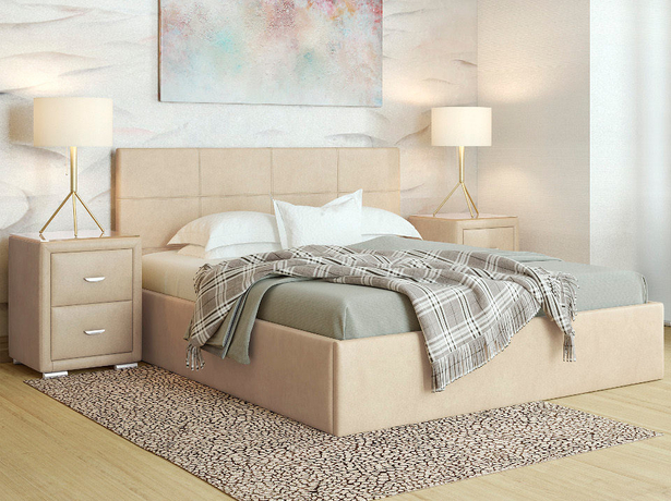 Кровать недорого Alba беж