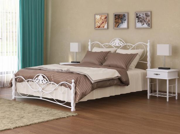 Кровать металлическая Garda 2R белая