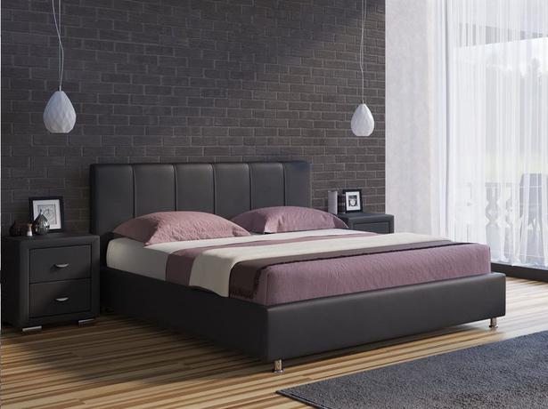 Черная кровать Nuvola 7