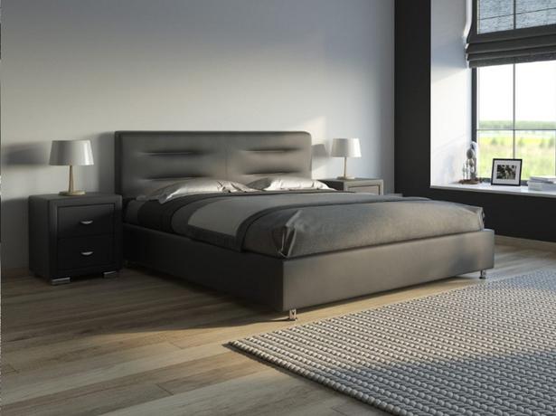 Черная кровать Nuvola 8