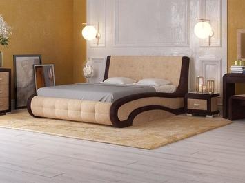 Кровать Leonardo с ПМ в коже