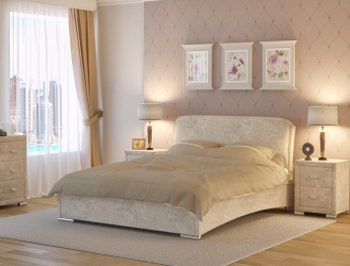 Кровать из ткани Nuvola 4 одна подушка